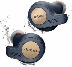 Donkerblauwe Jabra Elite Active 65t - Volledig draadloze sport oordopjes - Donker blauw