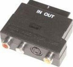 E+p VC 915 kabeladapter/verloopstukje SCART 3 x RCA, S-VHS Zwart
