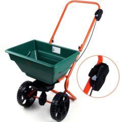 Groene Monzana Zoutwagen, strooiwagen voor kunstmest, zaden en zand met 25 liter...