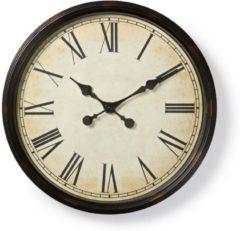 Nedis Ronde wandklok | Diameter 50 cm | Antieken stijl | Zwart Ronde wandklok | Diameter 50 cm | Antieken stijl | Zwart