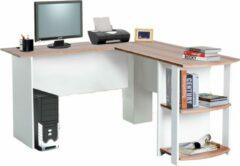 Merkloos / Sans marque Hoekbureau - Bureau - Schrijftafel - Computerbureau - Bureautafel - Opbergruimte - Zwart - 130 x 136 x 50 cm
