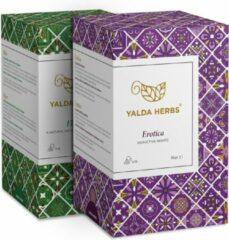 Combipack van Erotica en Elixir-2 Doosjes van Yalda Herbs Kruidenthee-36 piramide theezakjes