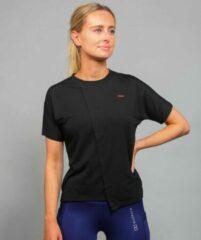 Marrald Soft Dry Sportshirt Dames Zwart XS - trainings korte mouwen fitness crossfit yoga shirt