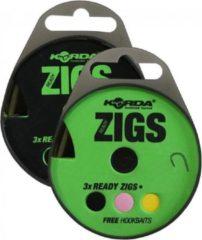 Korda Ready Zigs Barbless - 240cm - Haakmaat 10- 3st.