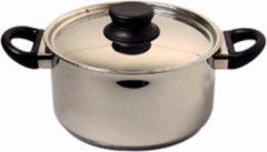 Zilveren Mammoet Kookpan met deksel Cottage 18 cm 2.6 l Roestvrijstaal