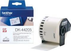 Witte Brother DK-44205 Continue Length Tape: 62mm - Thermal paper - white - removable (30.48m)