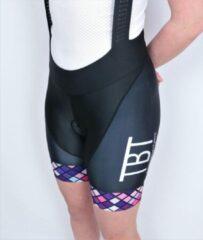 Paarse TBT Sportwear TBT Comfort Fietsbroek Dames Maat L