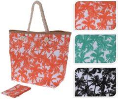 Turquoise Merkloos / Sans marque Strandtas hawaii print zeegroen