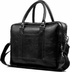 Solier | laptoptas | aktetas | Italiaans | leer | zwart | 43x33x11 cm | Ultimate Travelstyle