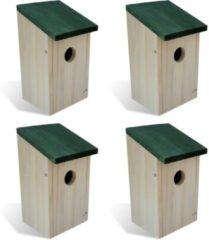 Beige VidaXL Vogelhuisje hout set van 4