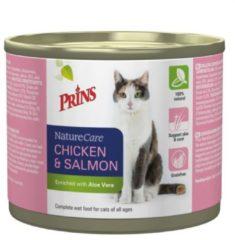 Prins Naturecare Cat Kip/Zalm Grootverpakking 6x200Gr