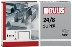 Novus 24/8 SUPER 040-0038 Nietjes 1000 stuk(s) 1.000 stuks/pak Heftcapaciteit: 50 vel (80 g/m²)