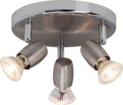 Brilliant Wesley LED Spotrondell, 3-flammig eisen/chrom