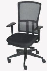 Schaffenburg bureaustoel serie 300 NEN-EN 1335 gecertificeerd. Rug zwart mesh, zitting stof zwart