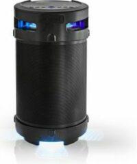 Nedis Bluetooth® feestluidspreker | 3,5 uur gebruiksduur | 150 W | IPX5-waterdicht | TWS | Handgreep | Feestverlichting | Zwart