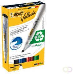 Viltstift Bic 1751 whiteboard schuin ass 3-5.5mm set à 4st