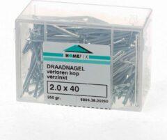 Hoenderdaal Draadnagel plat geruite kop gegalvaniseerd 2.4 x 45mm 350 gram (Prijs per 2 dozen)