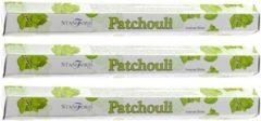 3x Stamford wierook stokjes patchouli geur - Lichaam in balans - Meditatie/mediteren geurstokjes