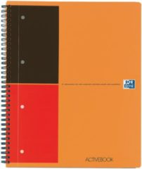 OXFORD International activebook Spiraalblok Oranje Gelinieerd A4+ 80 g/m² Ja 5 x 80 Vel