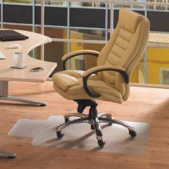 Transparante Floortex vloermat Computex voor harde oppervlakken met uitsparing formaat 51 x 25 cm formaat 120 x 90 cm
