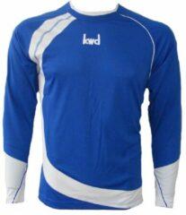 KWD Shirt Nuevo lange mouw - Kobaltblauw/wit - Maat L