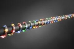Konstsmide 3090 - Feestverlichting - mini ropelight transparant 260 lamps LED - 2000 cm - 4.5V - voor buiten - multicolor