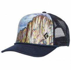 Black Diamond - Flat Bill Trucker Hat - Pet maat One Size, zwart/grijs