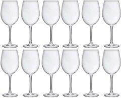 Transparante Cosy&Trendy 12x Luxe wijnglazen voor rode wijn 480 ml - 48 cl - Rode wijn glazen - Wijn drinken - Wijnglazen van glas