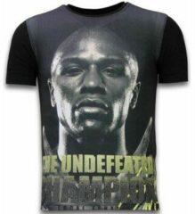 Zwarte T-shirt Korte Mouw Local Fanatic The Undefeated Champion - Digital Rhinestone T-shirt