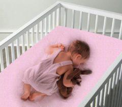 Homéé® Jersey hoeslaken stretch ledikant - hoeslaken - 60/70 x 120/140 cm +15 cm- 100% katoen roze - 2 pack
