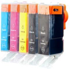 Print equipment Print-Equipment Spaarset 5 Patronen XL comp voor Canon PGI-520 CLI-521