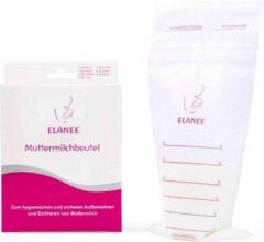 Transparante ELANEE Moedermelk bewaarzakjes