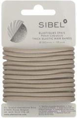 Sibel - Thick Elastic Hair Bands - Blonde - 12 Stuks