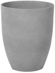 Beliani Bloempot grijs rond 35x35x42 cm CROTON