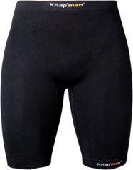Zwarte Knap'man Knapman Compressiebroek 45% zwart - maat XL
