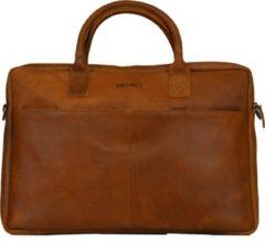 Bruine DSTRCT Limited Laptoptas - 17 inch - Cognac
