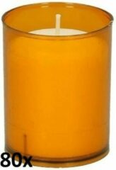 80 stuks Bolsius ReLight kaars in oranje houder 64/50 (24 uur)