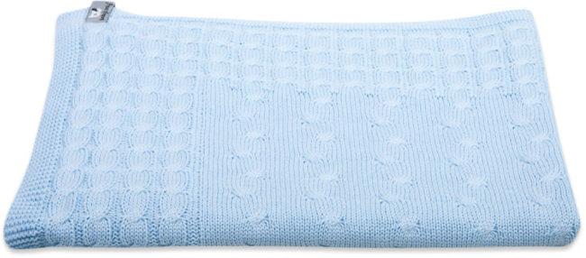 Afbeelding van Baby's Only Baby's Only Wiegdeken Kabel Baby Blauw 90 x 75 cm