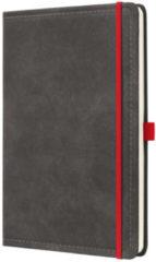 Donkergrijze Sigel Notitieboek Conceptum 194blz hard Vintage Dark Grey A4 gelinieerd SI-CO638