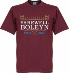 Bordeauxrode Retake West Ham United Farewell Boleyn Stadium T-Shirt - S