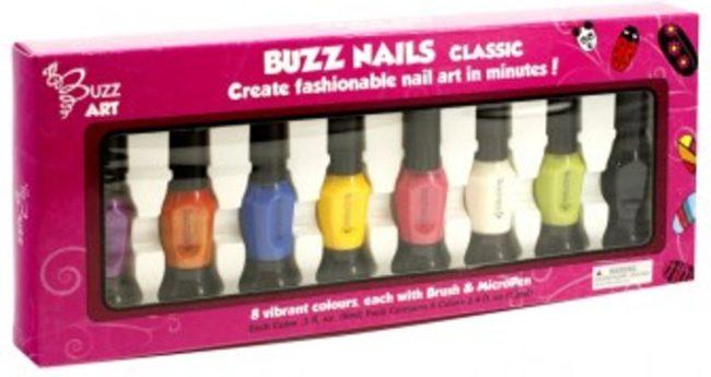 Afbeelding van Buzz Nagellak Classic 8 kleuren kwast en pen