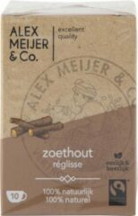 Theezakjes Zoethout Smaak Grote verpakking 60 zakjes 2 gram Alex Meijer Fair Trade