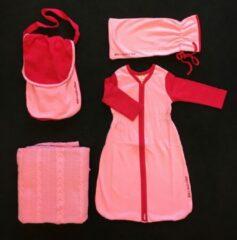 Fuchsia With a touch of Rose - Slaappakket – Roze – Biologisch katoen – Fairtrade – Deken – Slaapzak met mouwen– Luierzak – Pyjamazak - Kruikzak