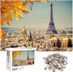 White Rhinoceros Jigsaw Legpuzzel 'Eiffel Tower' Puzzel 1000 Stukjes Volwassenen Legpuzzels - Met Extra Voorbeeldposter - Museum Puzzel - Natuur - Dieren - Stad - Kunst - Hobby Speelgoed - Legpuzzels Volwassenen Kinderen - 50*70 cm