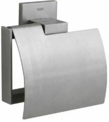 Roestvrijstalen Tiger Items toiletrolhouder met klep scharnierend 13.1x12.8x5.3cm Metaal RVS 281620946