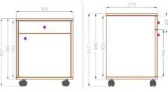 Rollcontainer Bürocontainer Schubladenschrank Büroschrank Schublade Masola VCM Weiß