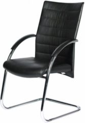 Zwarte Schaffenburg serie 090 conferentiestoel volledig zwart leder