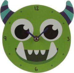 Puckator Groen Monstarz Monster Wandklok / Kinderkamer wandklok - Klok voor kinderen