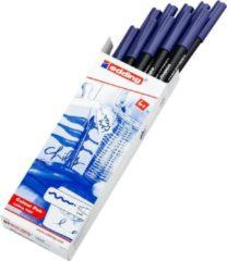 Donkerblauwe Edding viltstift e-1300 blauw