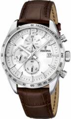Bruine Festina Chronograph horloge F16760/1 - 44 mm - Bruin